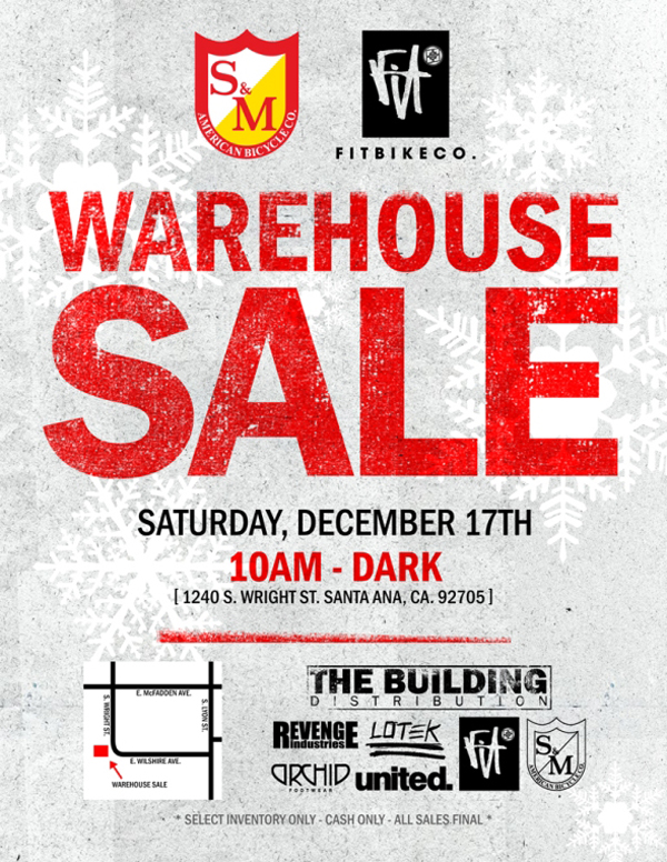 The Building - Another Warehouse Sale Flyer – BMX UNION