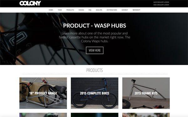colony-bmx-website