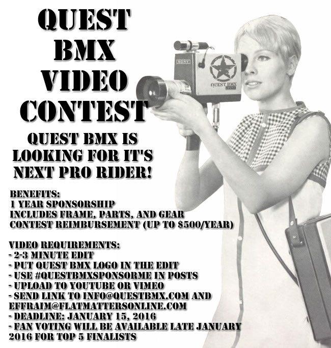 Quest BMX Sponsor Me Video Contest