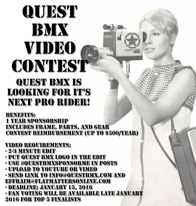 Quest BMX Sponsor Me Video Contest