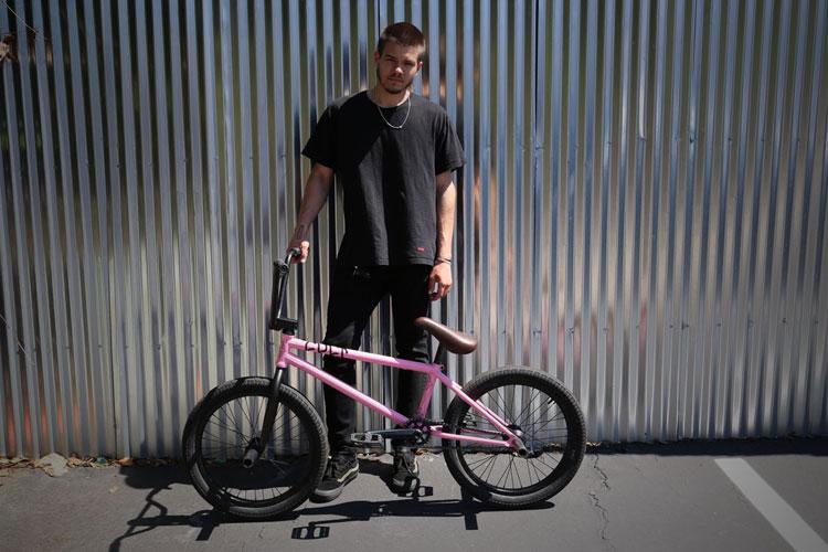 Grant Germain BMX bike check Cult AK Pink