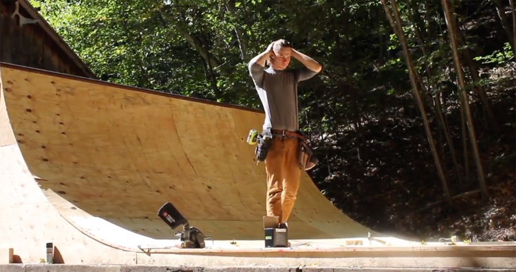 Building a Mini Ramp From Tree To Transition