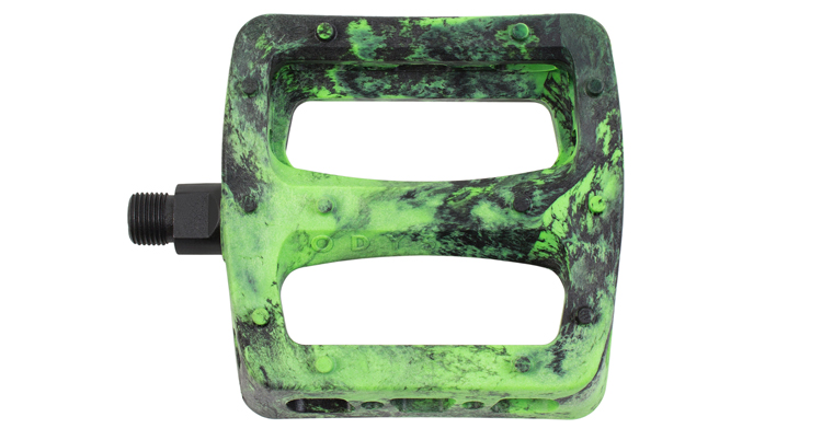 Odyssey BMX Twisted Pro Pedals Green Swirl