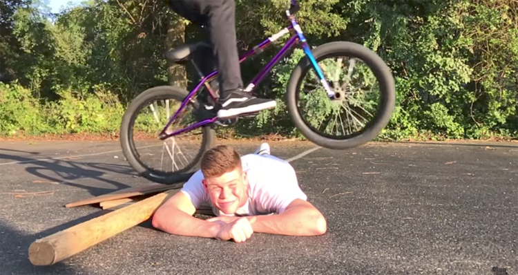 Scotty Cranmer First Jump Since Crash BMX video