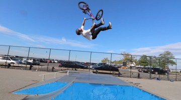 Scotty Cranmer Atlantic Highlands Skatepark Cory Berglar Backflip Tailwhip BMX video