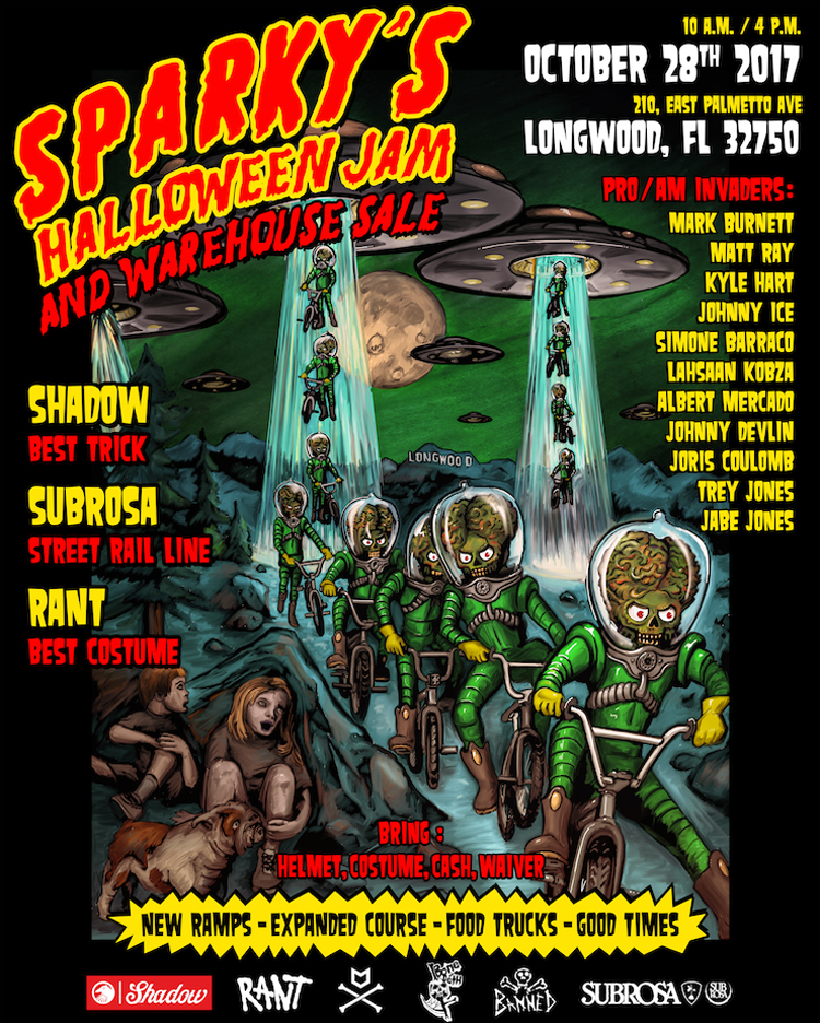 Sparkys Halloween Jam and Warehouse Sale BMX
