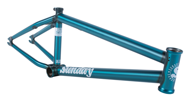 Sunday Bikes – Trans Teal and Rose Gold Street Sweeper Frames