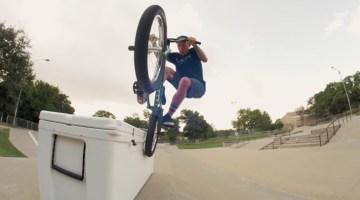 Chase Hawk Yeti Cooler BMX video Austin Texas