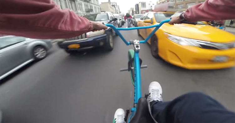 Billy Perry - BMX Traffic Hits: Canal Street, NYC