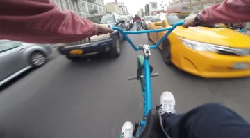 Billy Perry BMX Traffic Hits Canal Street NYC BMX video