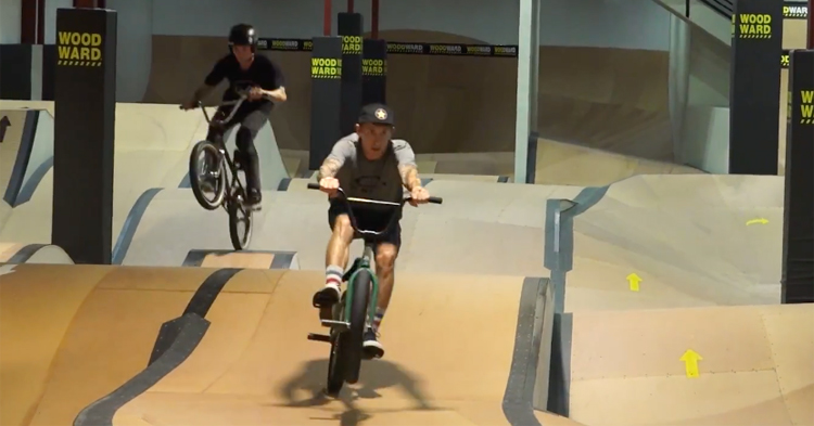 Chase Hawk and Anthony Napolitan Ride Woodward Riviera Pump Track