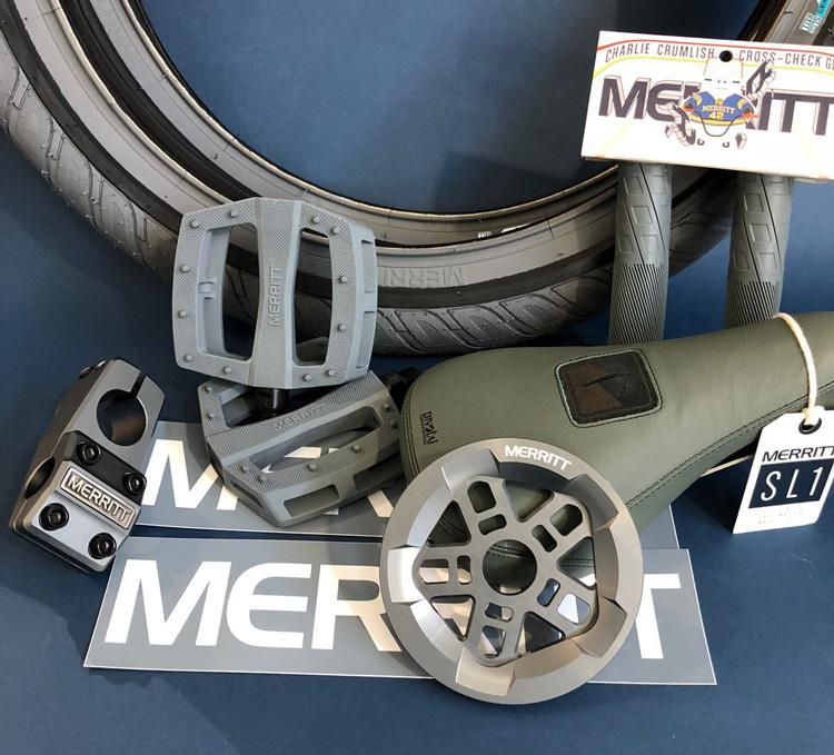 Merritt BMX Gunmetal Grey Parts BMX