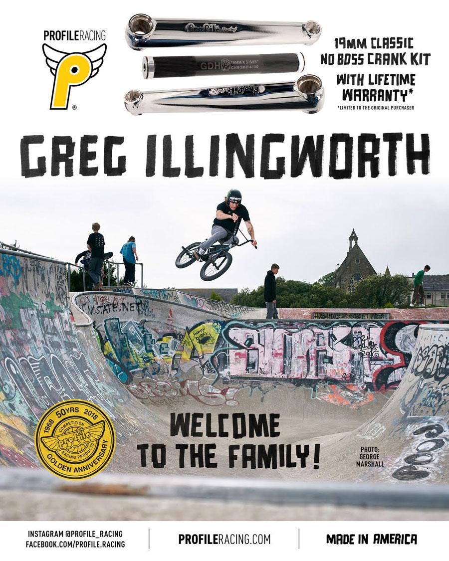 Greg Illingworth Profile Racing BMX