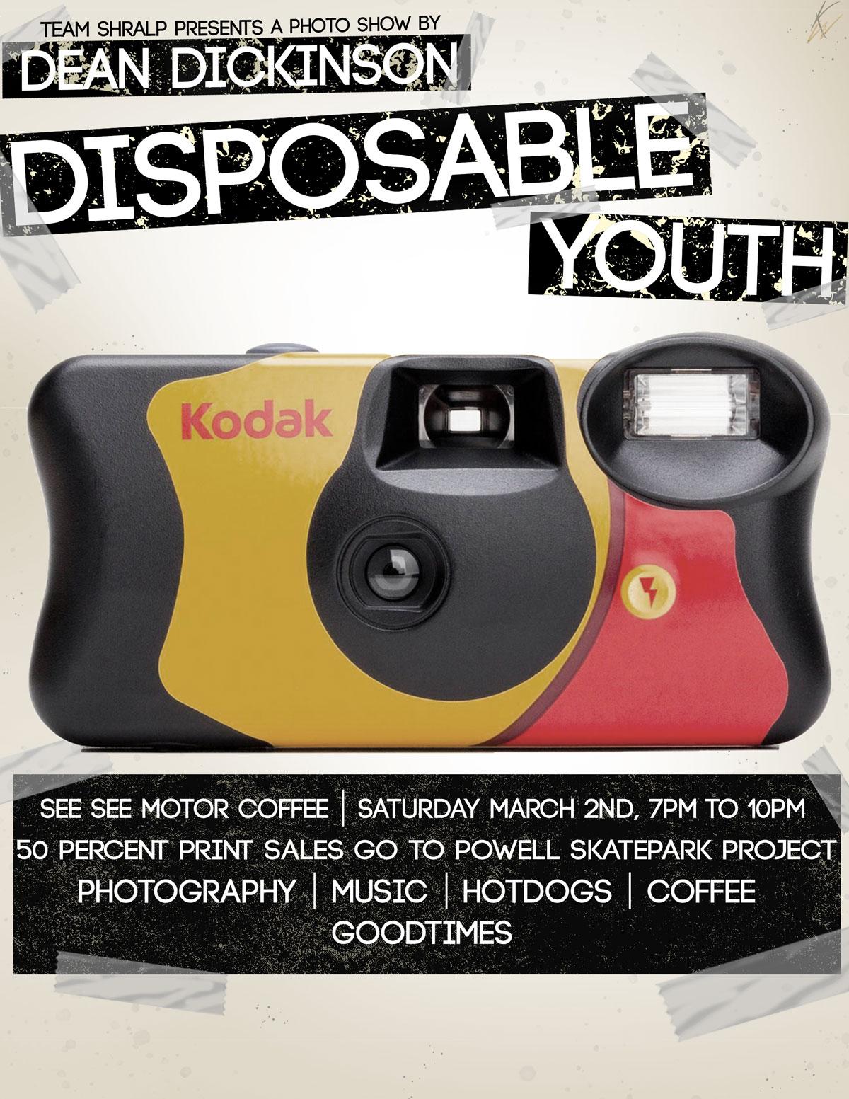 Dean Dickinson Disposable Youth photo show BMX
