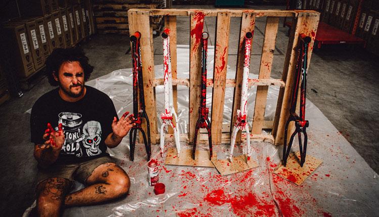 Subrosa Brand Blood Splattered Wild Child BMX Frame Trey Jones