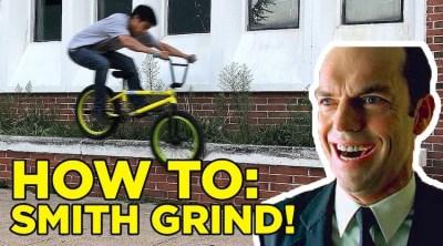 How To Smith Grind BMX bike Dustin Lee
