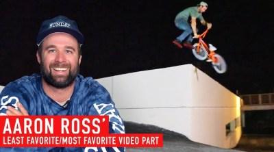 Aaron Ross Least Favorite Most Favorite BMX video