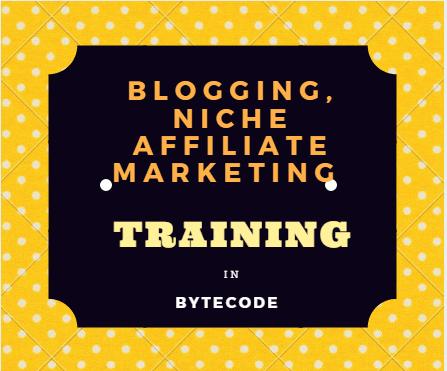 Blogging Niche Affiliate Marketing Training in ByteCode