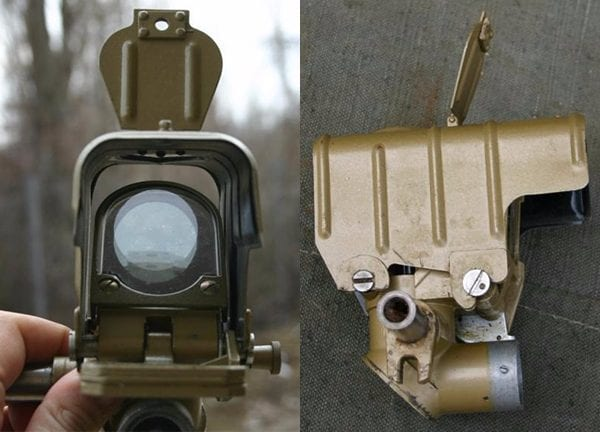 ЗУ-23-2 использует прицел ЗАП-23, в составе которого находятся оптический и коллиматорный прицелы.