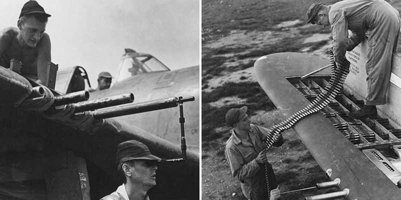 Работа авиаоружейников: пристрелка, сведение, обслуживание, пополнение боекомплекта.