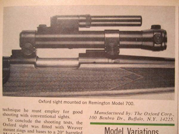 Коллиматорные прицелы. Часть 4: Коллиматоры Oxford Lightning Illuminated Gunsight и Single Point