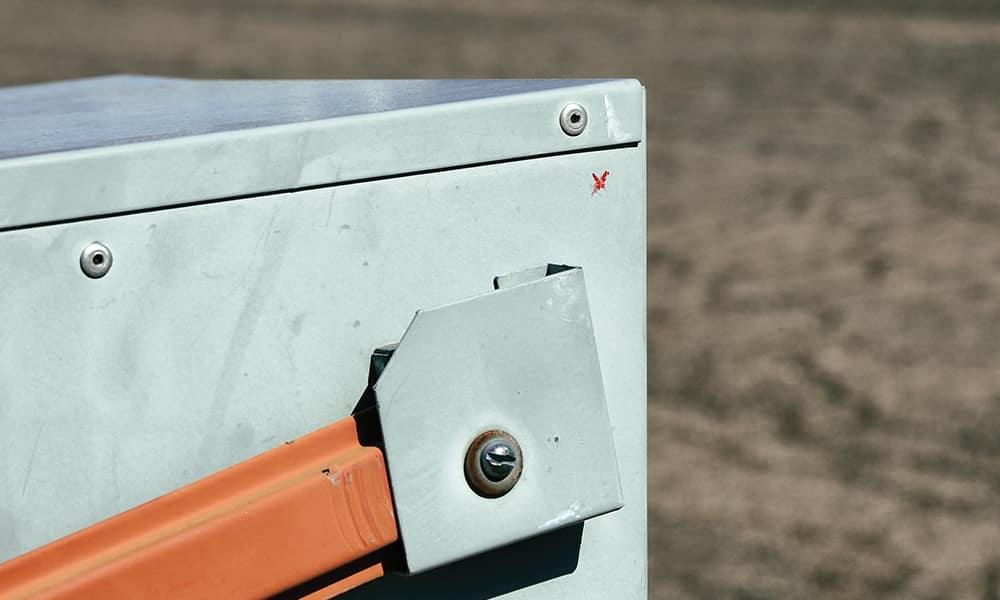 Двойной агент Олдрич Эймс делал пометки на почтовом ящике примерно так же, как изображено на этом фото.