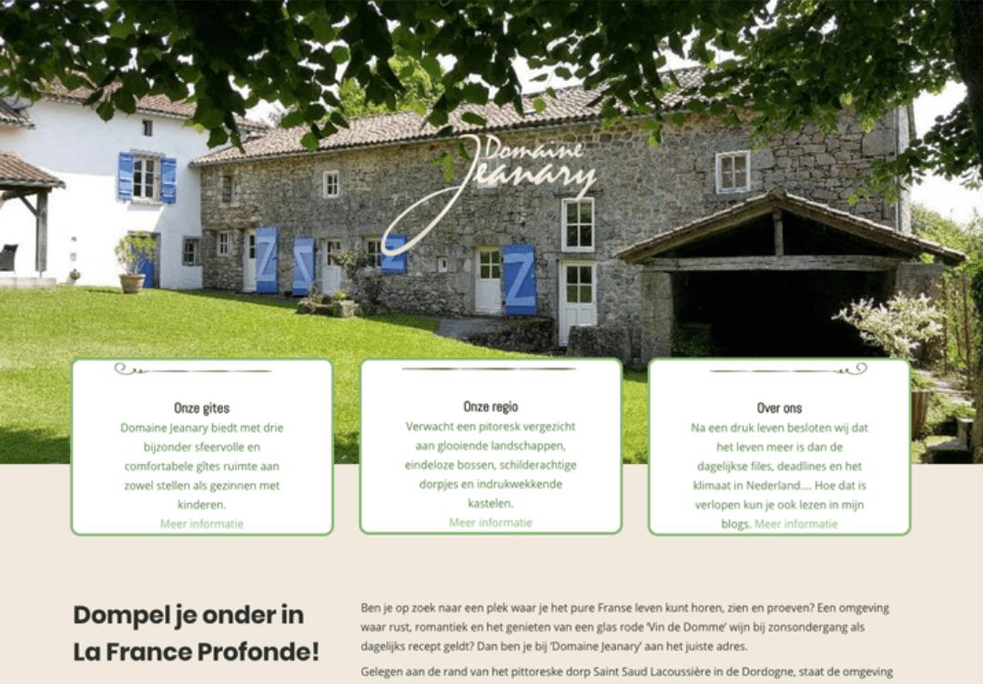 Domaine Jeanary | Website design