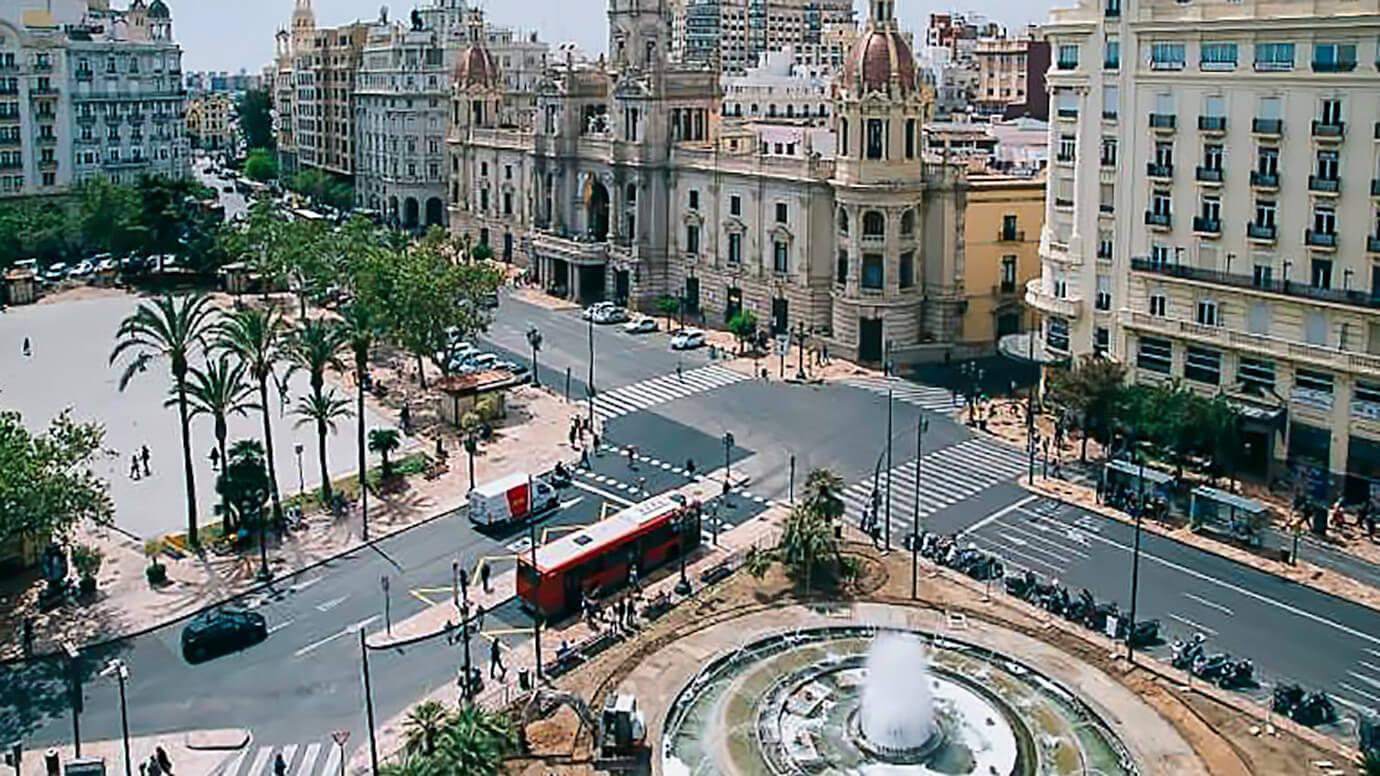 Plaza Ayuntamiento Valencia, Spanje