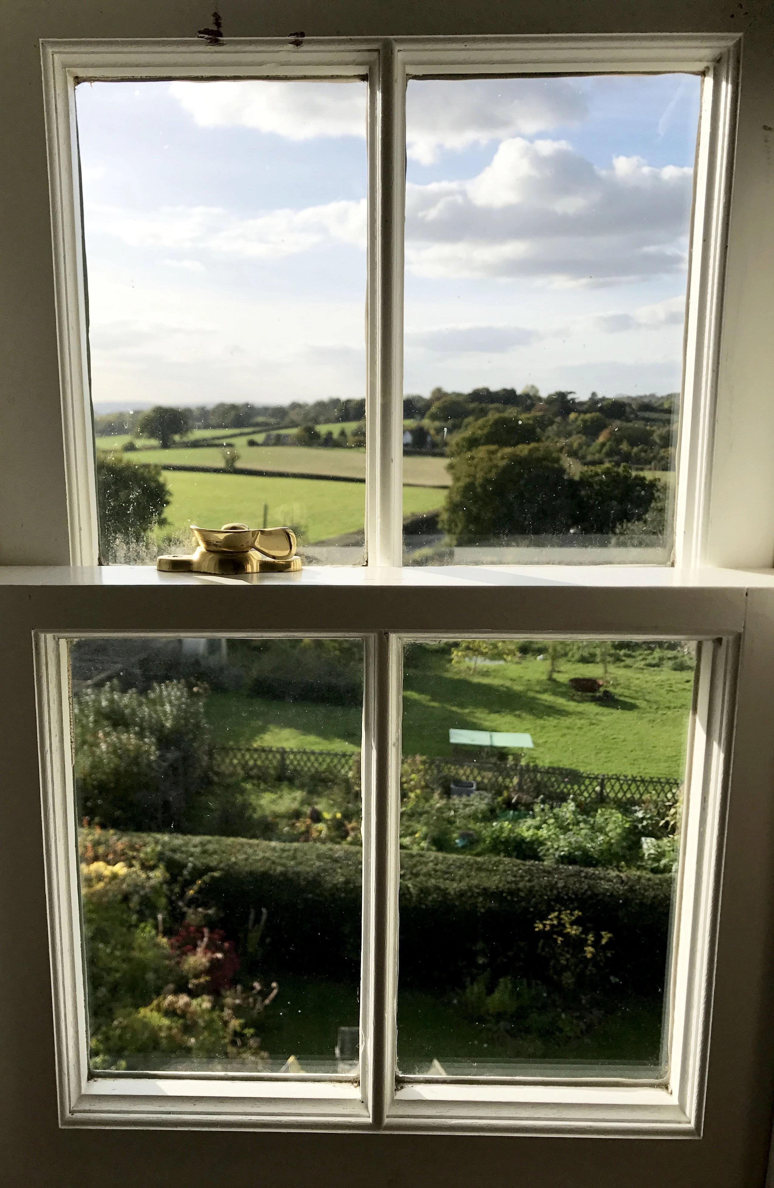 window overlooking kentish countryside