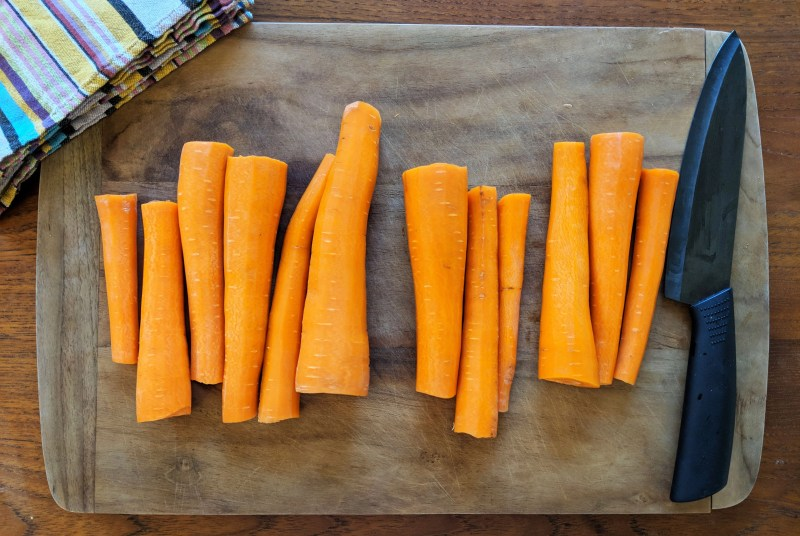 carrots on cutting board