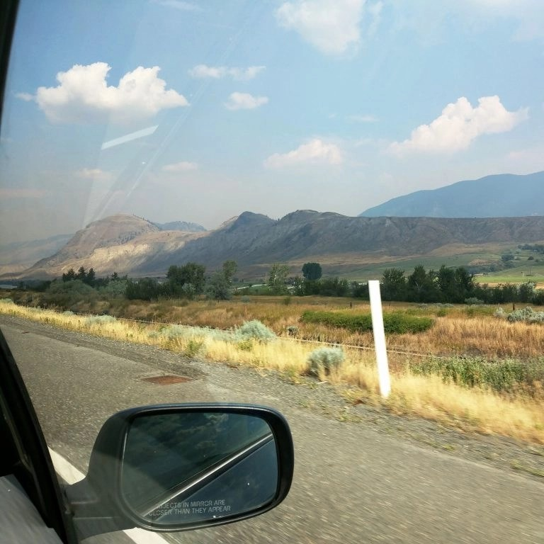 Photo from car window on British Columbia highway