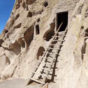 Ladder into cave dwelling