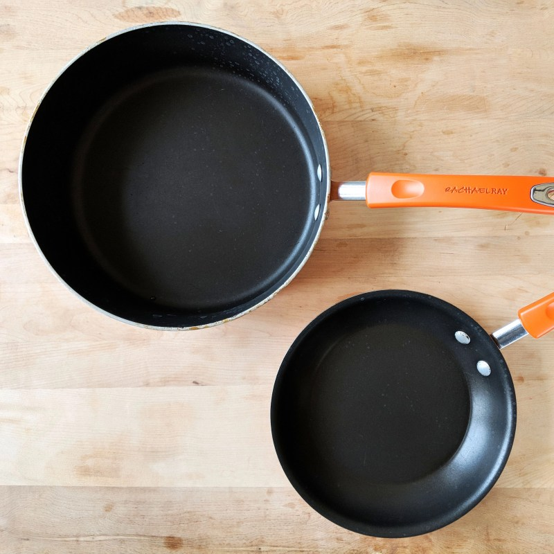 Two skillets by Rachael Ray