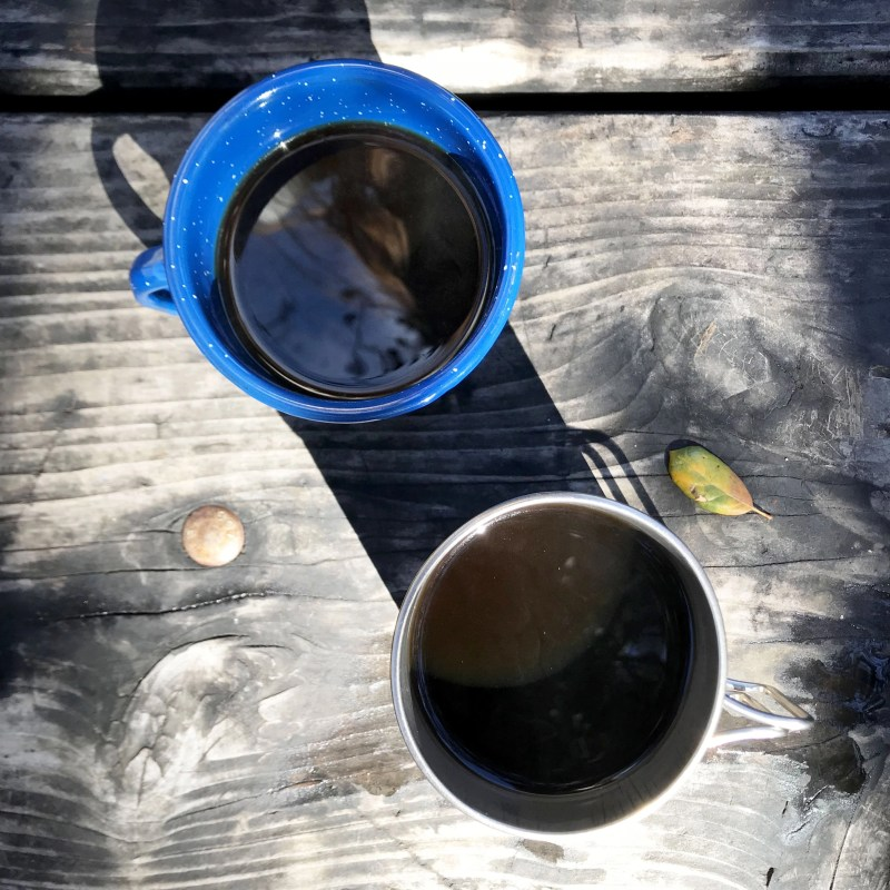 morning coffee camping at Leo Carrillo State Park