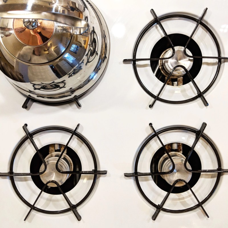 stove top with kettle