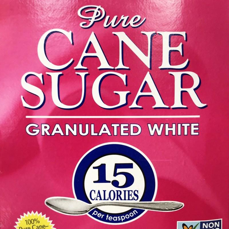 a box of cane sugar