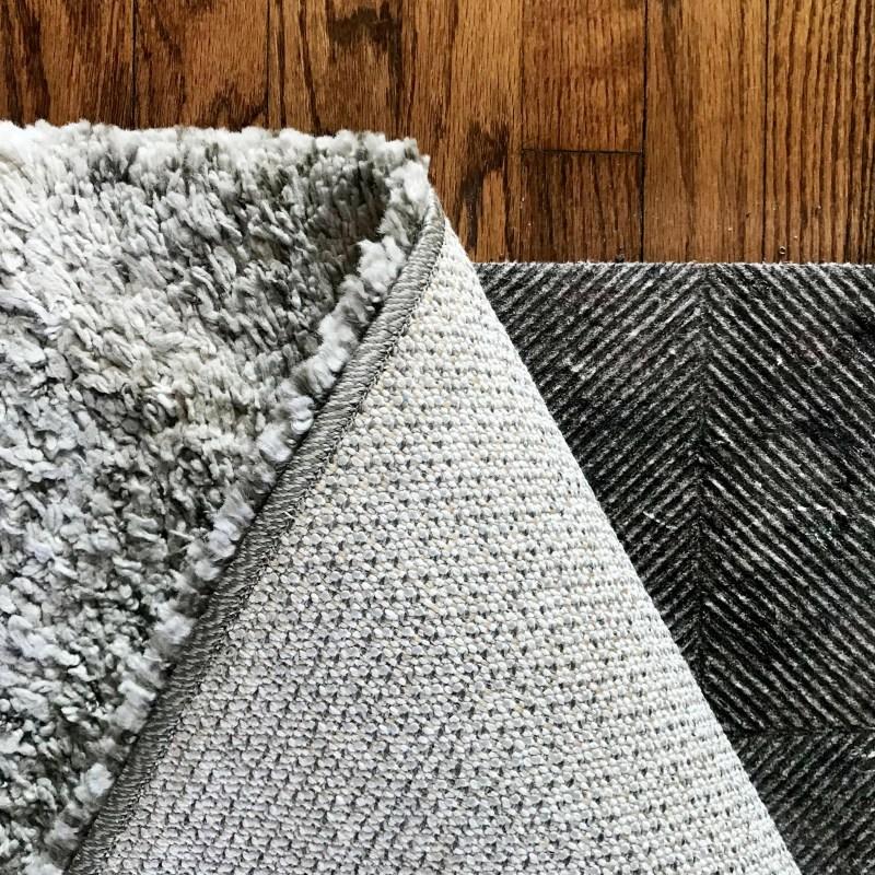 rug with rug pad underneath