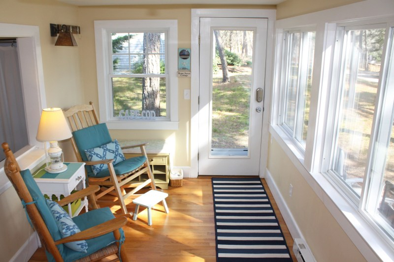 rocking chairs and windows