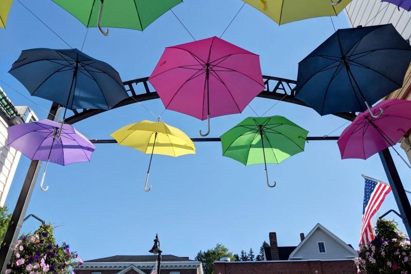 Umbrellas in Littleton, New Hampshire
