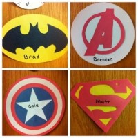 Superhero Door Decs