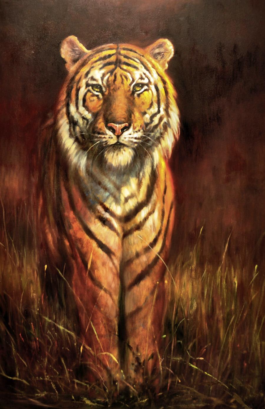 tiger art | bengal shadows |dave merrill