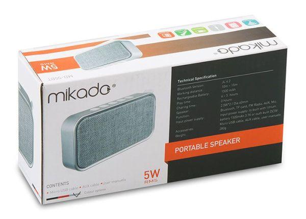 Mikado Bluetooth V4.2 Zvučnik MD 55BT Sivi