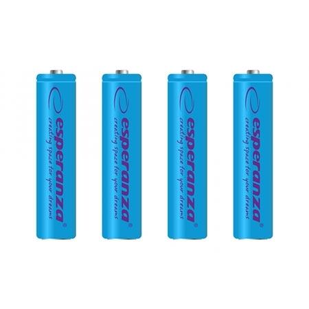 punjive baterije esperanza rechargeable ni mh aaa 1000mah 4kom blue eza102b
