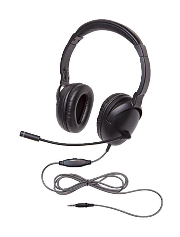 Califone 1017IMUSB NeoTech Plus Headset with In-Line Microphone, USB Plug