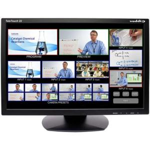"""Vaddio TeleTouch 22"""" HD Touch Screen LCD Monitor with Base"""