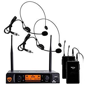 Nady DW-22  24 bit Digital Dual Headmic Wireless Microphone System