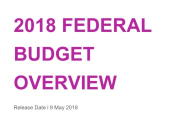 2018 Budget Overview