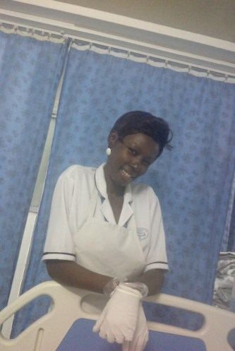 The ever smiling nurse Olivia. One of my favourites :-)