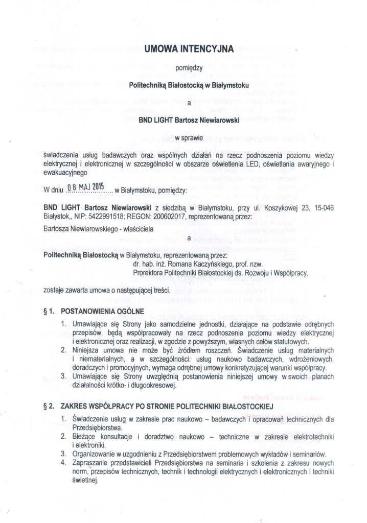 Umowa intencyjna PB cz1