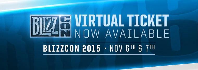 blizzcon 2015 virtual tickets